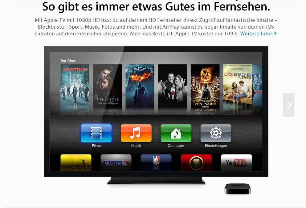apple tv test mit kosten und erfahrungen alle online. Black Bedroom Furniture Sets. Home Design Ideas