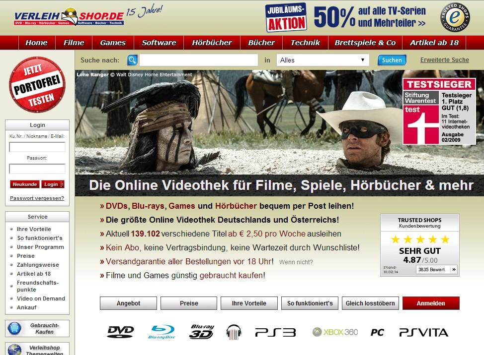 Verleihshop Test Mit Kosten Und Erfahrungen Alle Online Videotheken